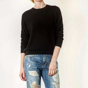 Quilted black sweater